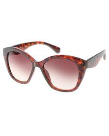 Klines Vintage Cats-Eye Sunglasses Brown