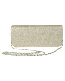 Klines Shimmer Glitter Clutch Bag Gold