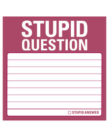 Knock Knock Stupid Question Sticky Notes Pink