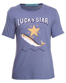 Krag Drag Lucky Star Tee Blue