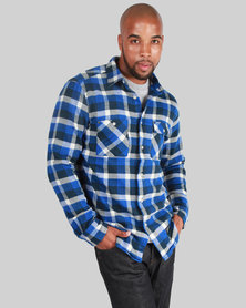 KR3W Grants Long Sleeve Shirt Blue White