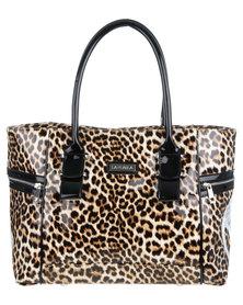 La Pearla Leopard Organiser Handbag Multi