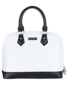 La Pearla Colourblock Kettle Bag White
