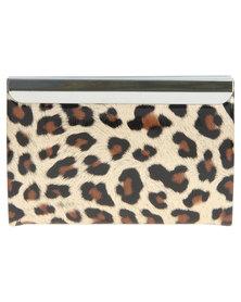 La Pearla Leopard Card Holder Multi
