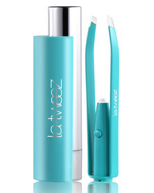 La-Tweez Pro Colourful Collection Tweezers with Triangle Box Lipstick Case Turquoise
