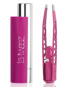 La-Tweez Pro Colourful Collection Tweezers with Triangle Box Lipstick Case Pink