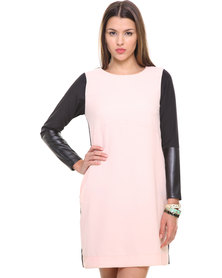 Label Femme Dress With Contrast Front Multi