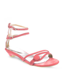Launch Button Sandals Pink