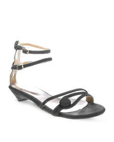 Launch Button Sandals Black