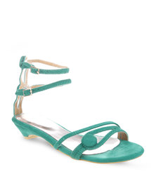 Launch Button Sandals Turquoise