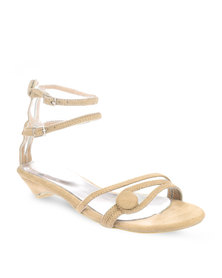 Launch Button Sandals Beige