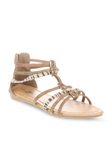 Launch Gladiator Flats Cream