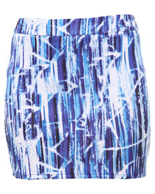 Leandra Bodycon Scuba Skirt Blue