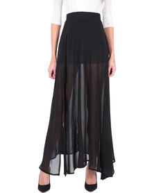 Leandra Designs Sheer Maxi Skirt Black