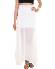 Leandra Designs Sheer Maxi Skirt Ivory