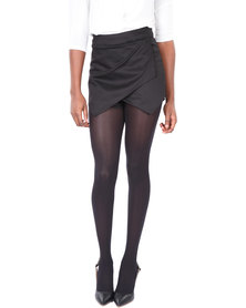 Leandra Designs Envelope Skort Black