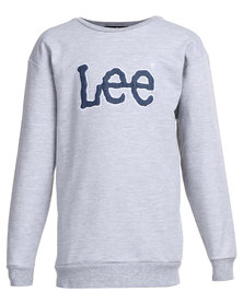 Lee Boys Champ Pullover Sweater Grey