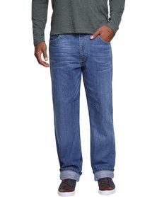 Lee Brooklyn Straight Leg Jeans Blue