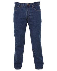 Lee Brooklyn Regular Straight Jeans Stonewash