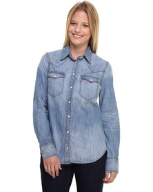 Levi's Tailored Western Shirt Blue