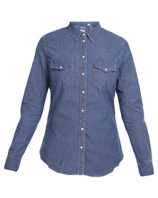 Levi's Tailored Classic Western Shirt Blue