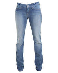 Low TC Demi Curve Straight Leg Jeans Blue