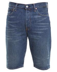 Levi's 501 Hemmed Short Treehouse Shorts Blue