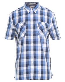 Levi's Short Sleeve Stock Work Shirt Blue