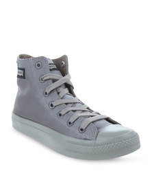 Levi's Dunk Pitch Hi Top Nylon Sneakers Grey