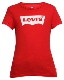 Levi's ® Slim Crew Neck Tee Core Batwing Red