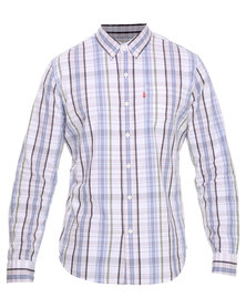 Levi's L/S Classic 1 Pocket Shirt Blue