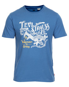 Levi's Graphic Set in Neck Tee Blue
