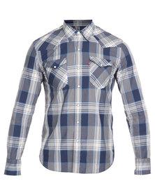Levi's Western Barstow Calimesa Shirt Blue