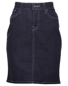 Levi's Workwear Pencil Skirt Blue