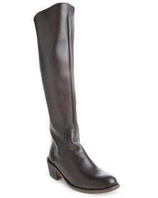 Levi's Lara Leather Boots Brown