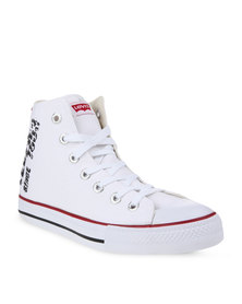 Levis Dunk Hi Sneakers White