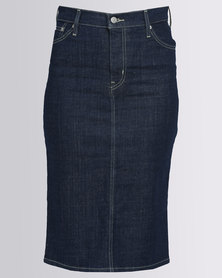 Levi's Love Street Midi Pencil Skirt Blue