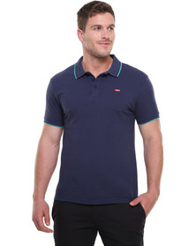 Levi's Slim Housemark Polo Shirt Blue