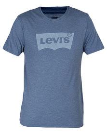 Levi's Housemark Graphic Tee Heather Blue