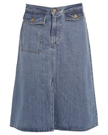 Levi's Surplus Skirt Mid Denim
