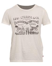 Levi's Two Horse White Graphic Tee White