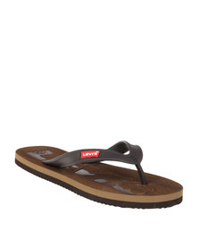 Levi's ® Bells Slip On Toe Thong Sandal Chocolate
