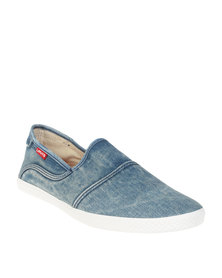 Levi's ® Clio Slip On Washed Denim Casual Shoe Blue