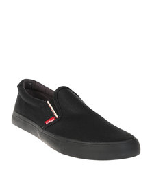 Levi's ® Pax Mono Casual Canvas Slip On Shoe Black
