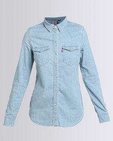 Levi's Tailored Classic Western Shirt Light Fall Blue