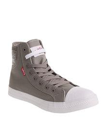 Levi's Hamilton Buck II High Top Canvas Shoe Grey