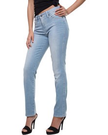 Levi's Flatters and Flaunts Mid Rise Fit Slim Blue