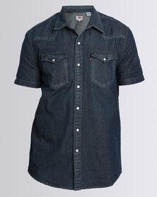 Levi's Short Sleeve Classic Western Shirt Dark Blue