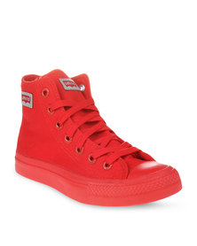 Levi's Dunk Pitch Hi Sneakers Red