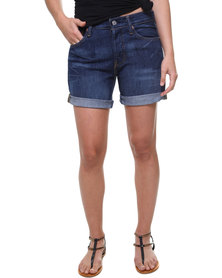 Levi's 501 Long Hemline Shorts Blue